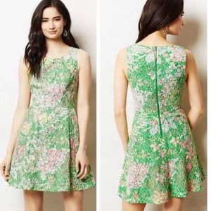 ANTHRO MAEVE Verbena Sheath Floral Dress